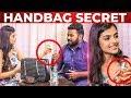 Evanukku Engeyo Macham Irukku Ashna Zaveri HANDBAG Secret Revealed   What's Inside the HANDBAG