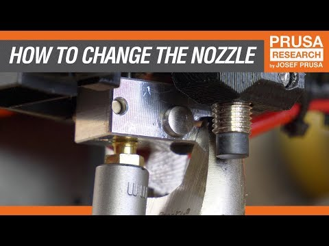 How to replace the extruder nozzle