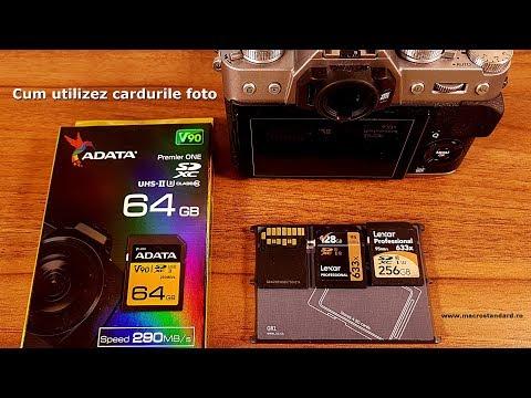 Cum utilizez cardurile foto plus ADATA Premier One SDXC 64GB, UHS-II, U3, Class 10, V90, 290MB/s