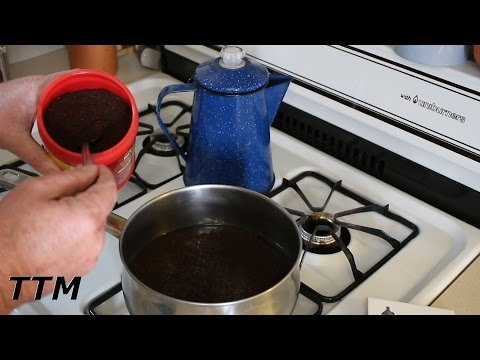 How to Make Coffee without a Coffee Maker~Stovetop Cowboy Coffee in a Sauce Pan