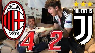 CHE SCHIFO! 🤬 MILAN 4-2 JUVENTUS || LIVE REACTION TIFOSI JUVENTINI HD!