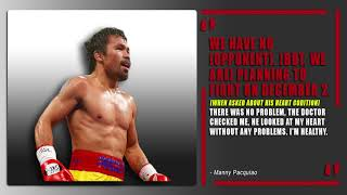 Manny Pacquiao returns December 2, 2018 | No opponent named | #ThePlug