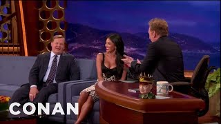 Nicole Scherzinger Busts Conan For Staring At Her Boobs