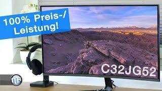 Groß, Scharf, Schnell und... recht GÜNSTIG! - Samsung C32JG52 Curved-Monitor