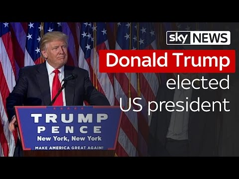 Donald Trump wins US election