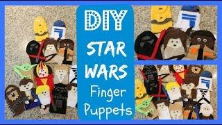 DIY Craft - How To Make Star Wars Finger Puppets