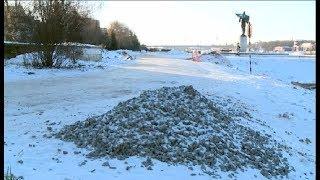 Коммунальщики ликвидировали провал грунта у церкви Бориса и Глеба