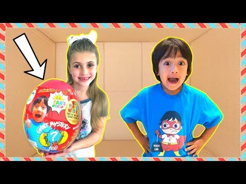 I Mailed 📦 Myslef to Ryan ToysReview for Ryan's World Giant Egg and It Worked!