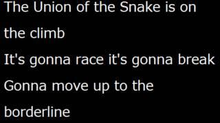 Duran Duran Union Of The Snake lyrics