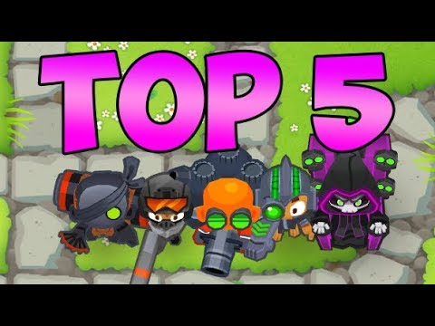 TOP 5 - 5th Tier Towers! Bloons Tower Defense 6