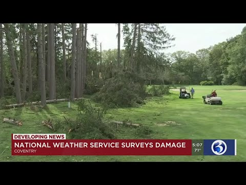 VIDEO: National Weather Service surveys damage in Tolland County