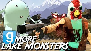 NEW LAKE MONSTERS DESTROY MY BOATS!!! | Gmod Hilarious Creations