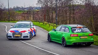 Cars Leaving Carmeet! RS6, S63 AMG, Passat R36, Ferrari FF, R8 V10, BRABUS G500 4x4², AMG GTR etc!