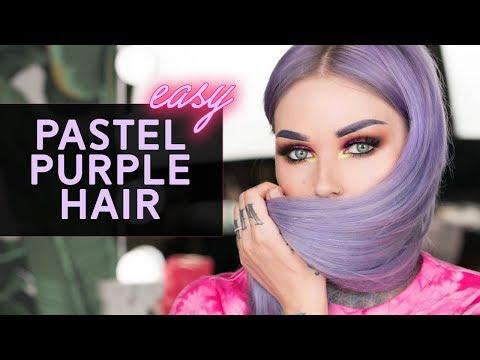 HOW I DYE MY HAIR PASTEL PURPLE using Arctic Fox Hair Color! | KristenLeanneStyle