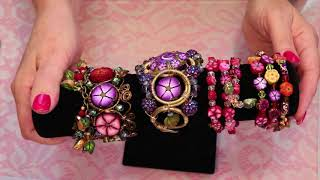 Brush Stroke Flower Beads
