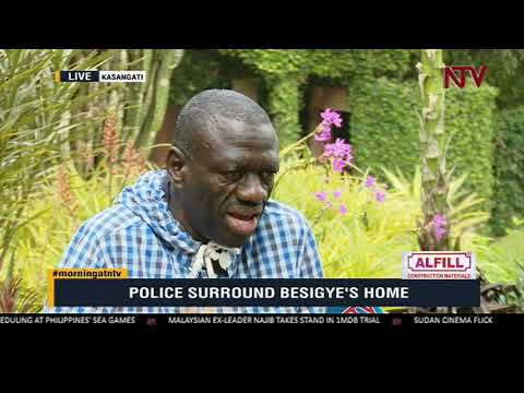 Police surround Besigye's home to block him from holding parallel anti-corruption walk