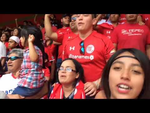 """Hinchada Roja. (Toluca)"" Barra: La Perra Brava • Club: Toluca"