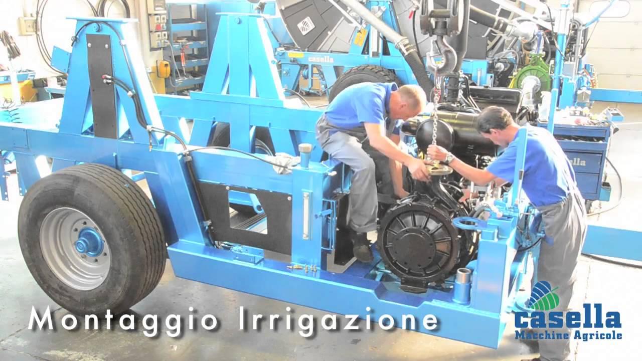 Irrigatori a pioggia Casella - Produzione