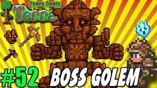Terraria 52 - PC - BOSS GOLEM - Como matar o Boss - Nova picareta