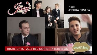 Highlights from the 2017 Joey Awards Red Carpet Interviews with Host Joshua Costea