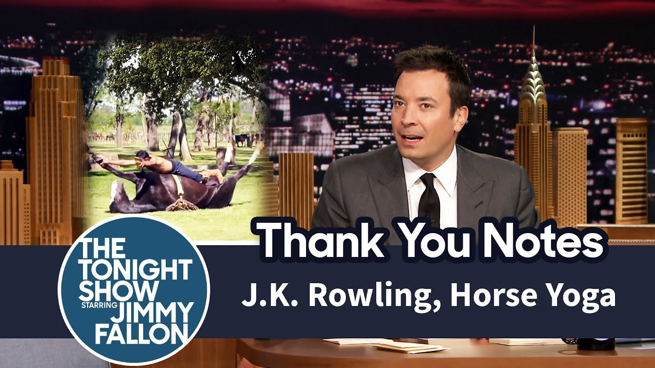 Thank You Notes:J.K. Rowling, Horse Yoga thumbnail