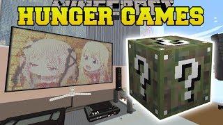 Minecraft: ANIME BEDROOM HUNGER GAMES - Lucky Block Mod - Modded Mini-Game