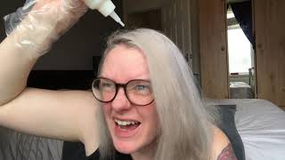 DIY Hair Dye From Bleached Blonde To Dark Blonde