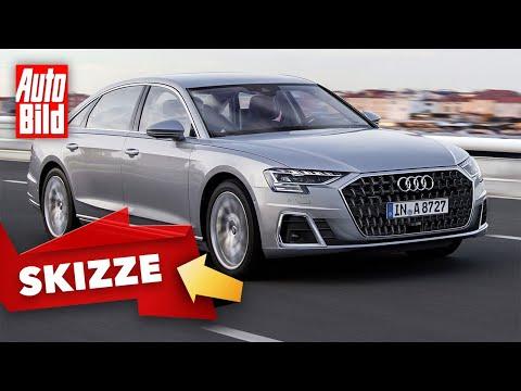 Audi A8 D5 (2021) | So kommt der neue Look des Audi A8 | Skizze