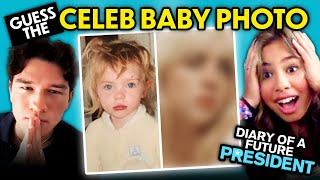 Can YOU Guess That Celebrity's Baby Photo? (ft. Cast of Diary of a Future President) | React