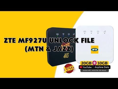 ZTE MF927U Unlock File (MTN & JAZZ) Old Security - [romshillzz]