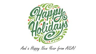 Happy Holidays and a Happy New Year from AILA!