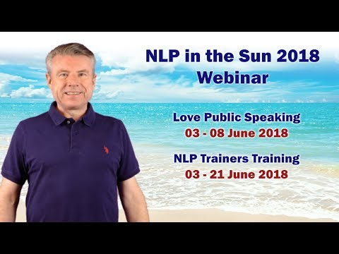 Love Public Speaking & NLP Trainers Training 2018 Webinar