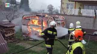 preview picture of video 'Wohnwagen in Brand gesteckt - Brandstiftungen in Region Hainburg'