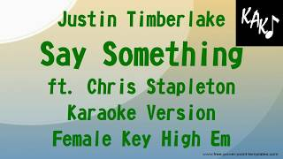 say something justin timberlake karaoke higher key - Thủ thuật máy