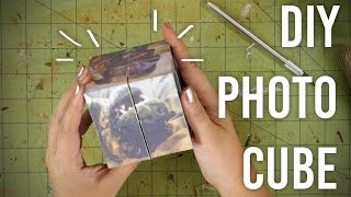 How To Make Folding Photo Cube : DIY : Great Gift Idea!