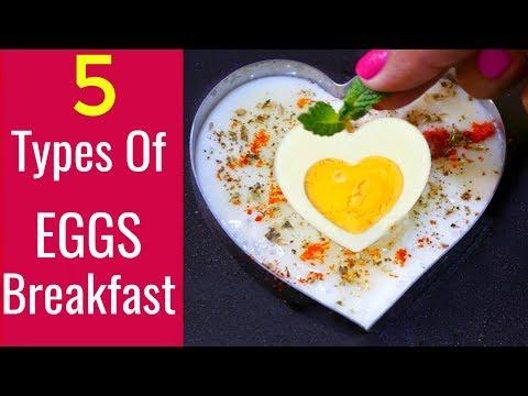 5 Types Of Eggs Breakfast 5* Star  Recipes | CookWithNisha