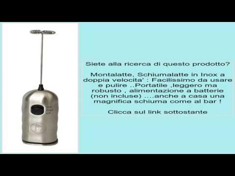 Montalatte, Schiumalatte in Inox a doppia velocita' : Facilissimo da usare e pulire ..Porta