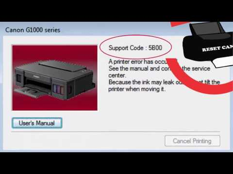 Cannon G2000 support code : 5200 , 5B00 solved || easy way