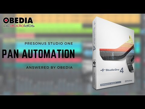 Get Started With Studio One: Pan Automation in #PreSonus #StudioOne