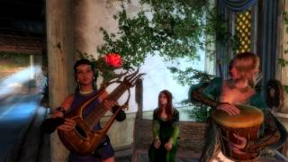 skyrim review of mods: Мод барда Playable Instruments Battle Lute