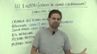 Lei 8.069/90 (ECA) Aula 1/8 - Introdução E Conceitos Gerais - Curso De Leis Da Educação