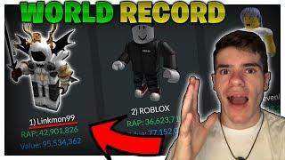 I'm Officially RICHER Than ROBLOX!! (WORLD RECORD BROKEN) - Linkmon99 ROBLOX