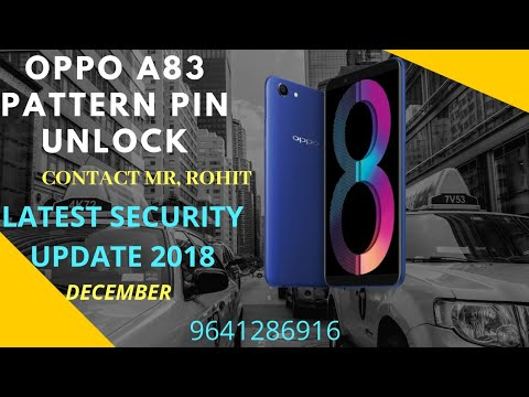 Video Oppo A83 Pattern Unlock Oppo A83 Pin Unlock Oppo A83 Screen