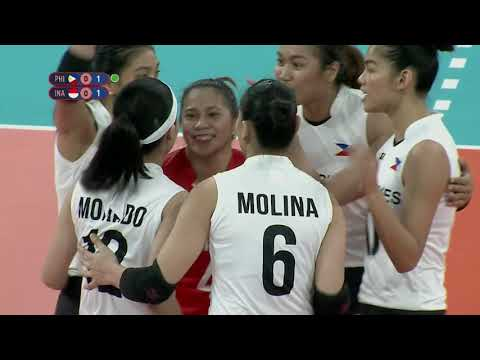 [GMA]  SEA Games 2019: PHL VS INA Volleyball Women's Division