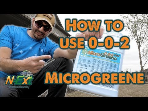 How to Use 0-0-2 MicroGreene // N-Ext DIY Lawn Care Tips