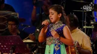 "Spoorthi Rao singing ""Kannodu Kanbathellam"" from the movie"