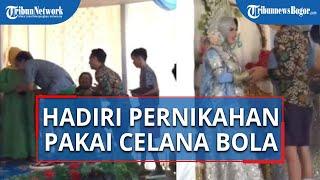 Viral Video Rombongan Pria Hadiri Pernikahan Teman Pakai Celana Bola, Para Tamu Undangan Terhibur