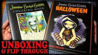 New Coloring Book Halloween Jasmine Beckett Griffith Unboxing Flip Through And Review