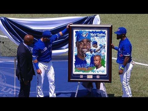 TB@TOR: Blue Jays honor Delgado in pregame ceremony