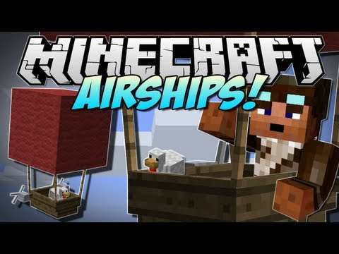 Minecraft | AIRSHIPS! (Fly the incredible Zeppelin!) | Mod Showcase [1.5.2]